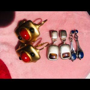 Set of 3 pairs of earrings -Exclusive Price!!- ⭐️